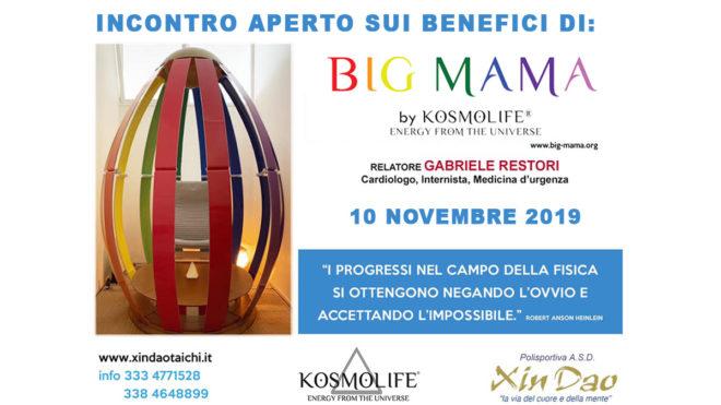 EVENTO 10-11-2019   BIG MAMA: benessere a 360°